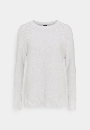 TEXTURED CREW - Jumper - grey