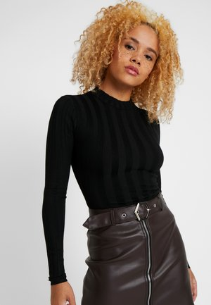 EXTREME CREW NECK BODYSUIT - Jumper - black