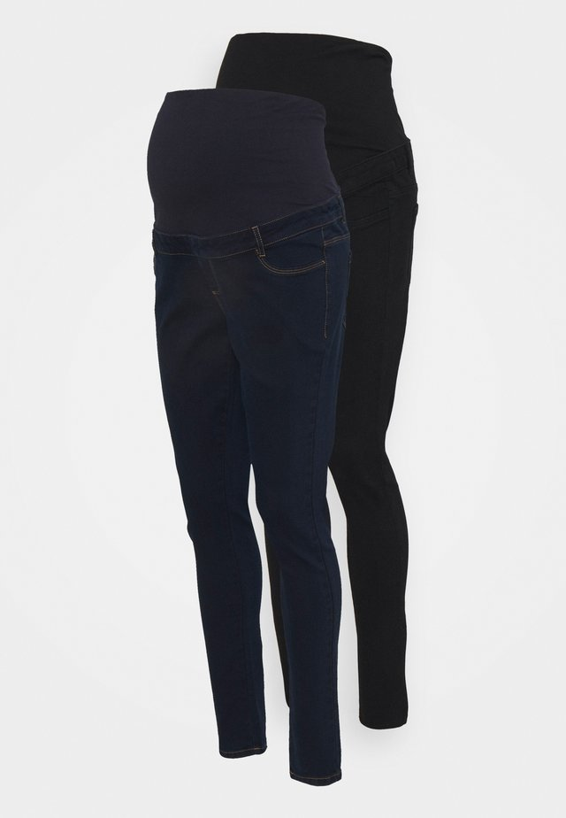OVER BUMP ELLIS SKINNY 2 PACK - Zúžené džíny - black/indigo