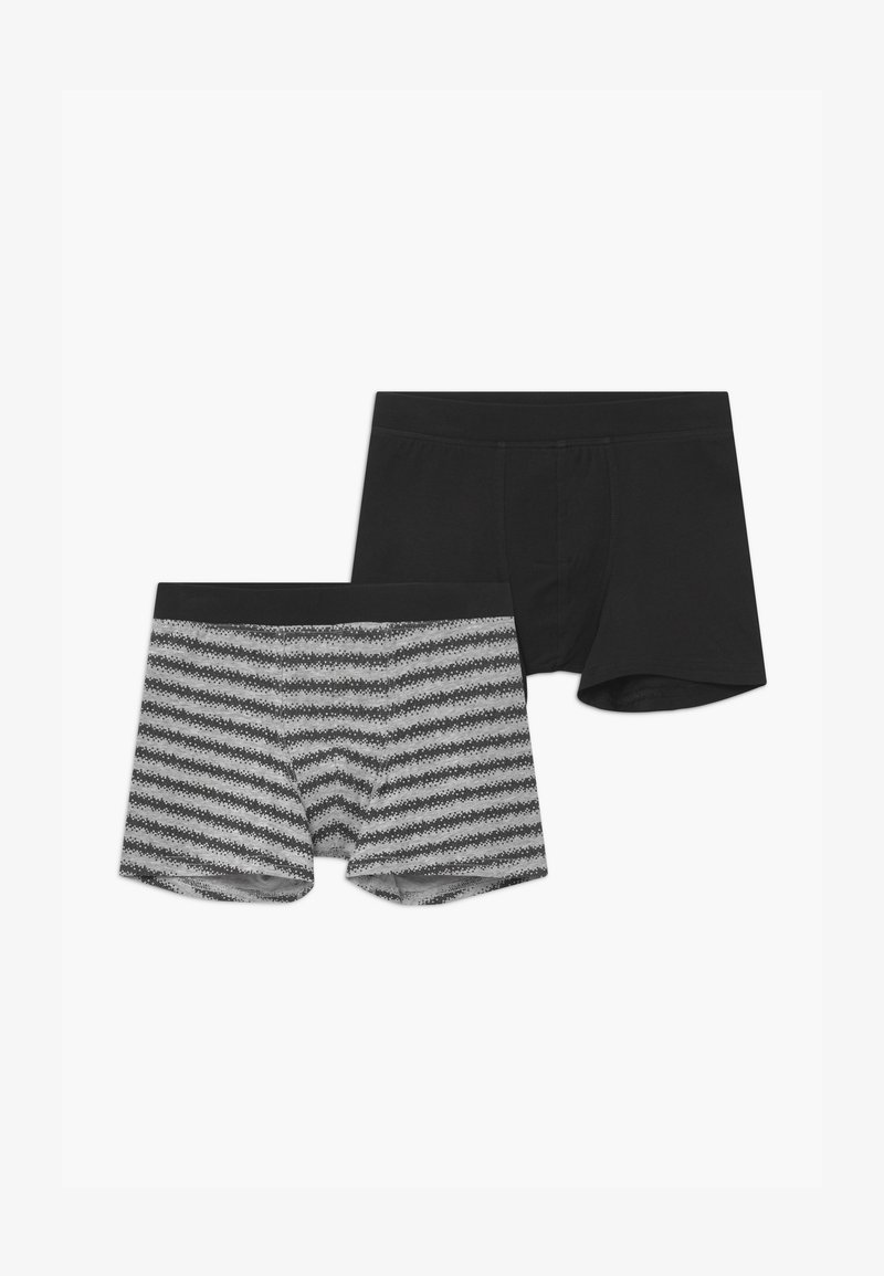 Schiesser - TEENS 2 PACK - Pants - black/grey