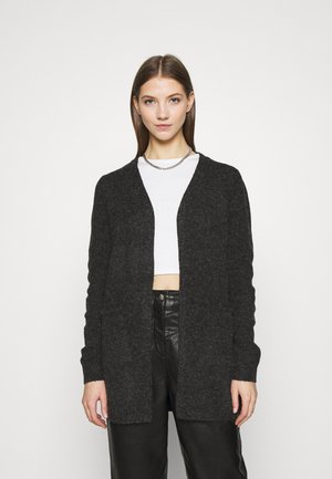 VMDOFFY SHORT OPEN - Cardigan - black/melange
