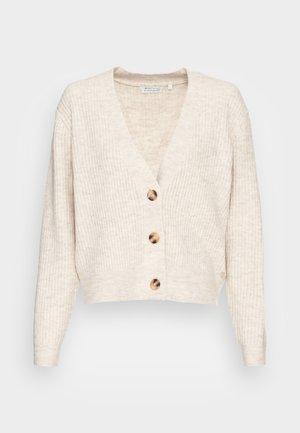 COZY CARDIGAN - Cardigan - creme beige melange
