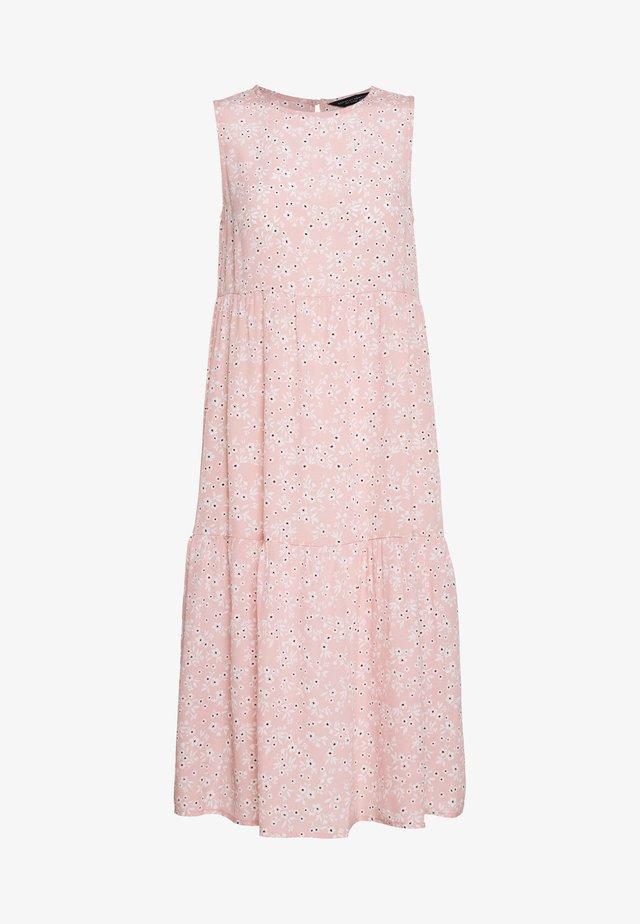 DITSY SLEEVELESS TIERED DRESS - Day dress - pink