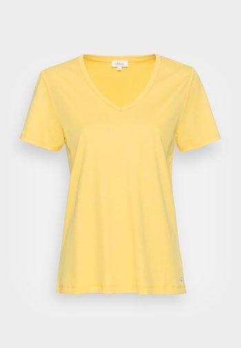 Jednoduché triko - sunset yellow
