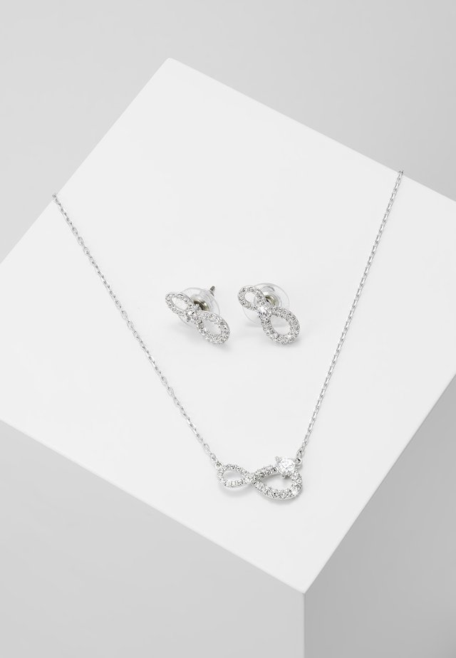 INFINITY SET - Earrings - silver-coloured