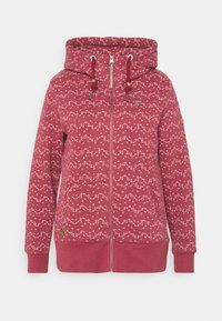 Ragwear Plus - NESKA PRINT ZIP - Zip-up sweatshirt - raspberry - 4