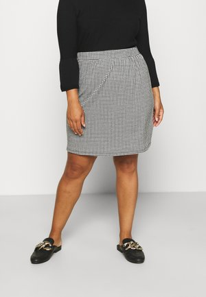ALINE CHECK MINI SKIRT - Mini skirt - black