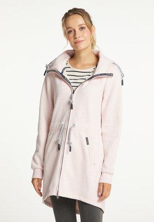 Krótki płaszcz - rosa melange