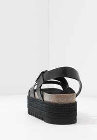 Even&Odd - LEATHER  - Espadrilles - black - 5