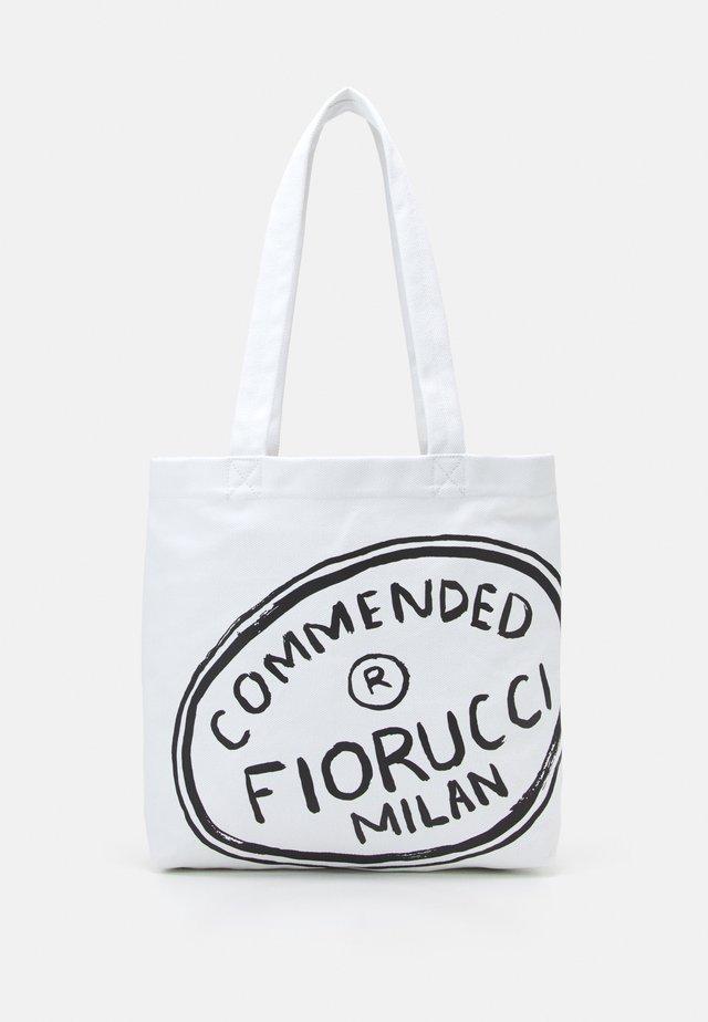 ILLUSTRATED COMMENDED TOTE BAG UNISEX - Shopper - white