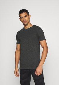 Denim Project - 5 PACK  - T-shirt - bas - olive night melange/bordeaux melange - 6