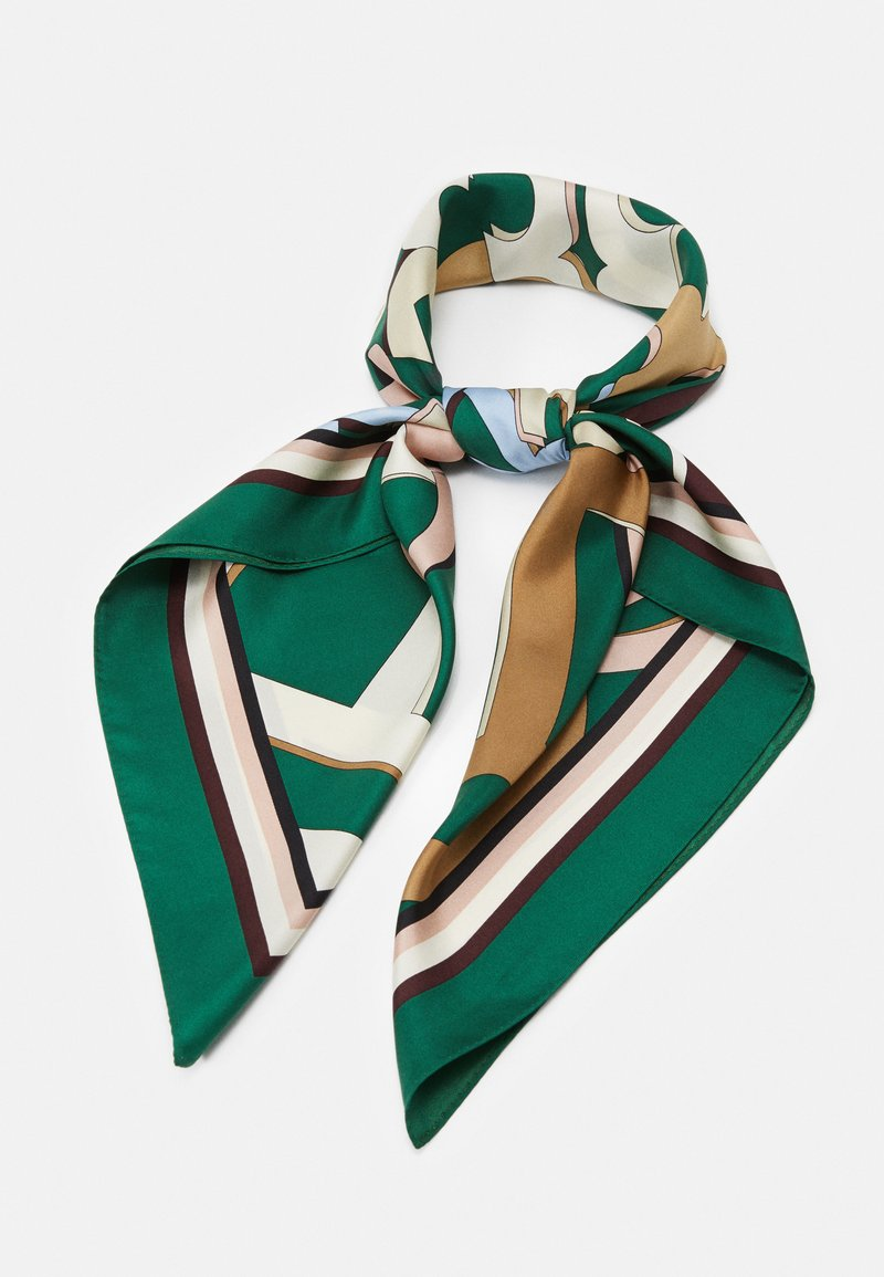 Tory Burch - MEDLEY LOGO SQUARE - Foulard - green/multi-coloured