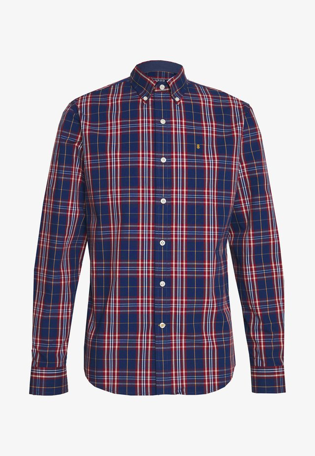 POPLIN PLAID - Hemd - estate blue