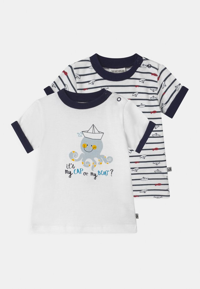 OCEAN CHILD 2 PACK - T-shirt med print - white/dark blue