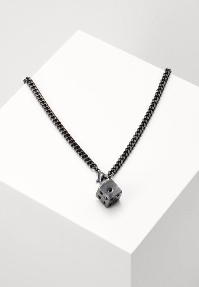 DICE NECKLACE - Ketting - gunmetal