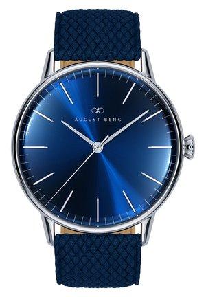 UHR SERENITY DEEP BLUE SILVER BLUE PERLON 40MM - Watch - sunray blue