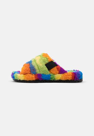 FLUFF YOU CALI COLLAGE UNISEX - Pantoffels - pride rainbow