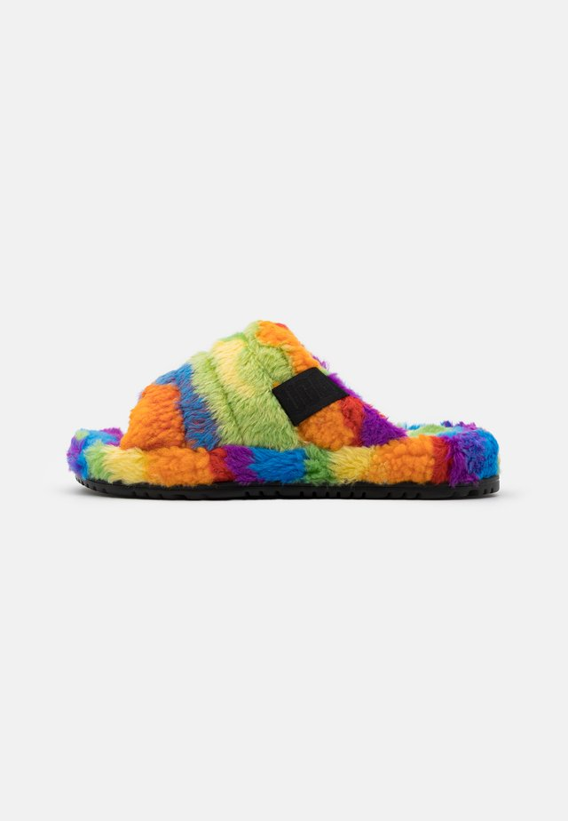 FLUFF YOU CALI COLLAGE UNISEX - Slippers - pride rainbow