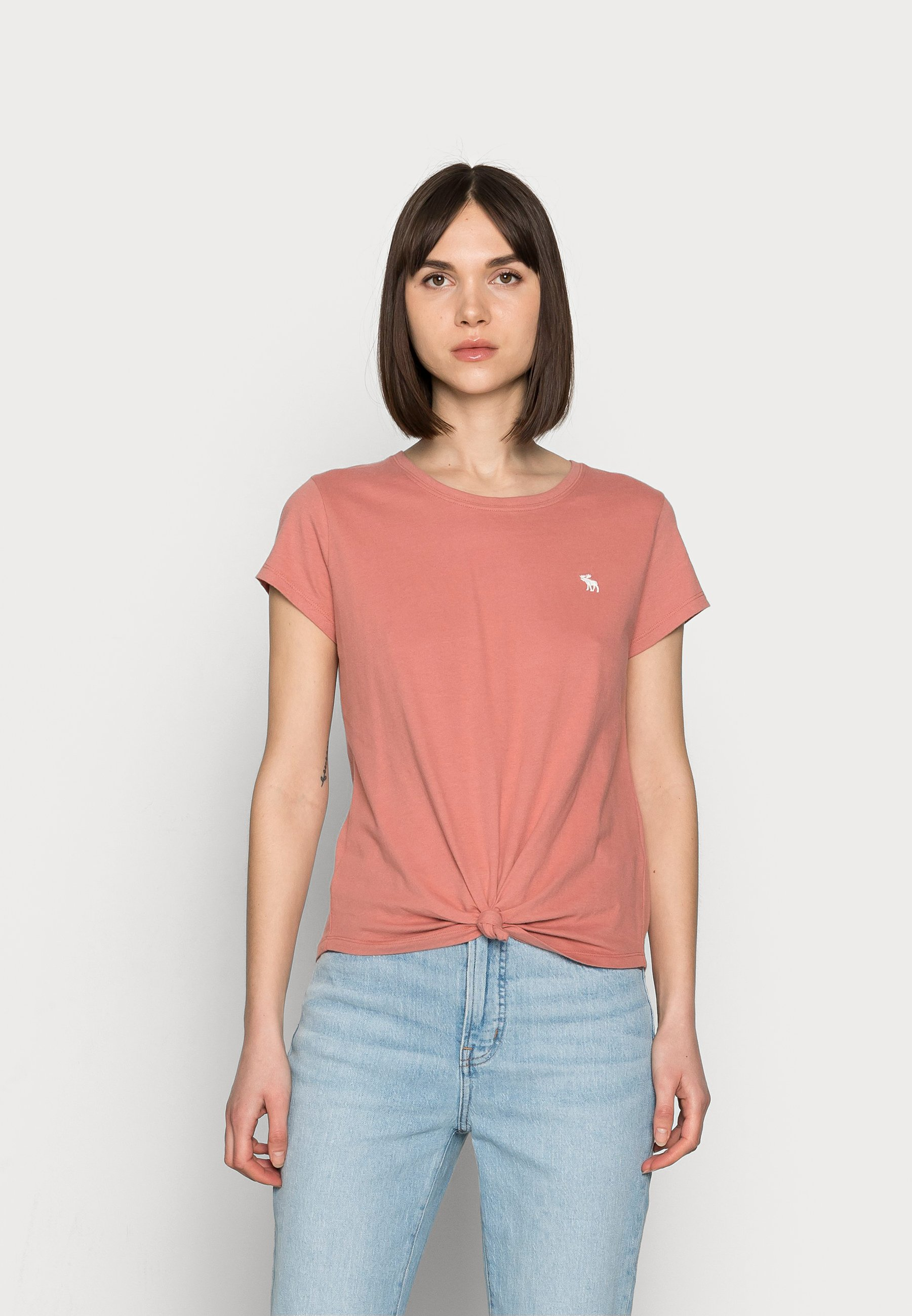 Damen ICON KNOTTED CREW - T-Shirt print