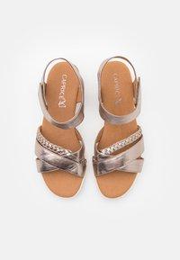 Caprice - Wedge sandals - taupe metallic - 5