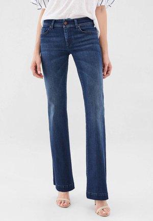 PUSH UP - Bootcut jeans - dark blue