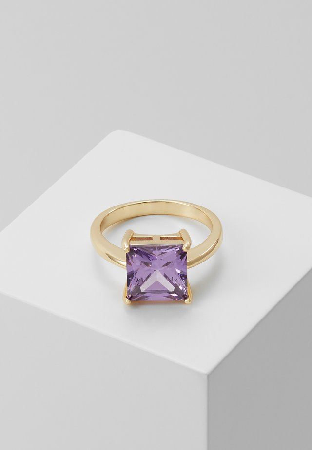 LADY SQUARE RING - Anello - purple