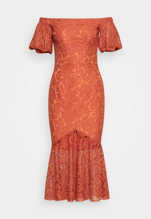 Cocktail dress / Party dress - rust