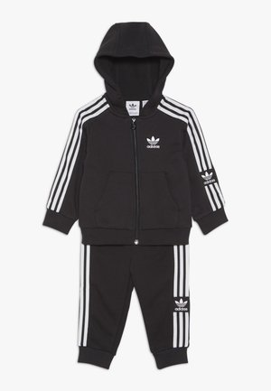 LOCK UP HOODIE SET - Tracksuit - black/white