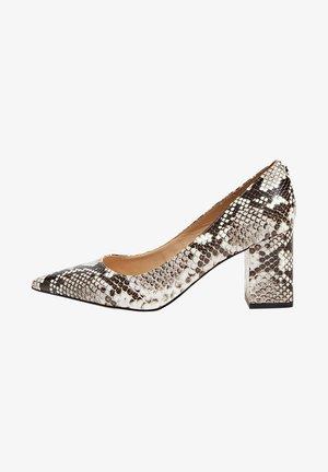 PUMPS ZACKI ANIMALPRINT - Classic heels - white, black