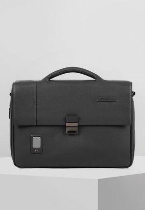 PIQUADRO AKRON AKTENTASCHE LEDER 42 CM LAPTOPFACH - Briefcase - black