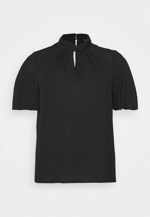 TRACEY TWIST FRONT SHELL - Blouse - black