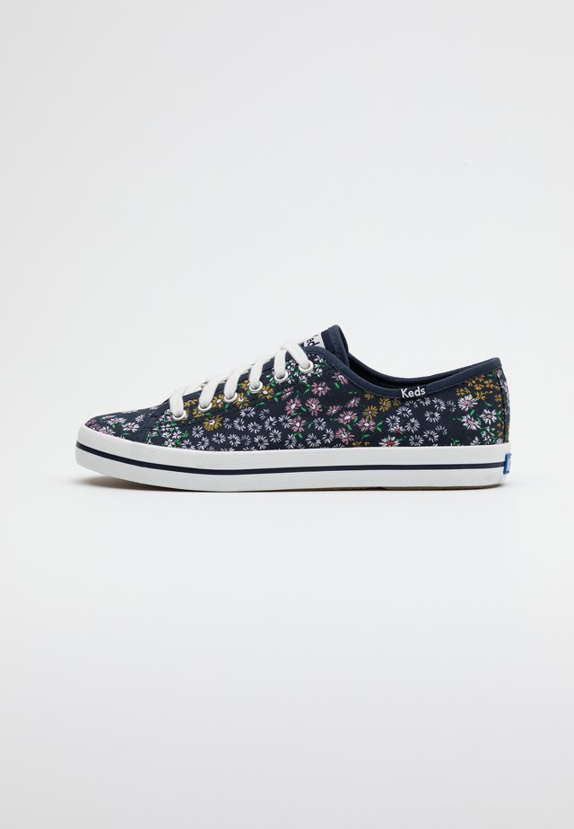 KICKSTART FLORAL - Baskets basses - peacoat navy