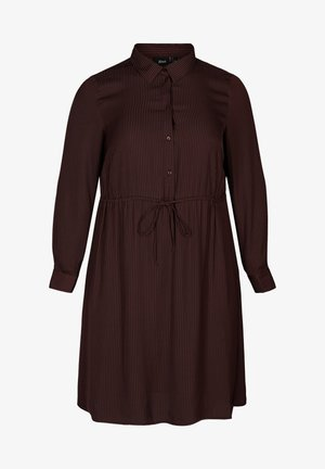 Day dress - dark bordeaux