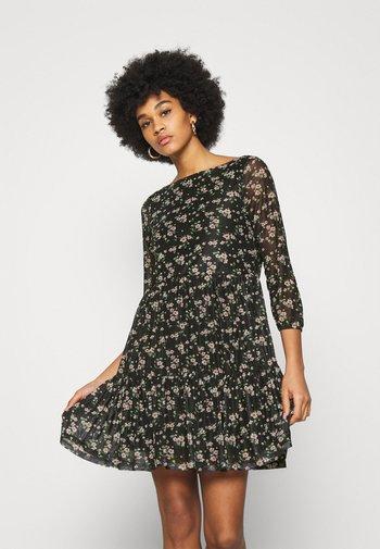 Day dress - black/multi-coloured