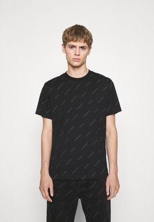 DIAGONAL TEE UNISEX - Print T-shirt - noir