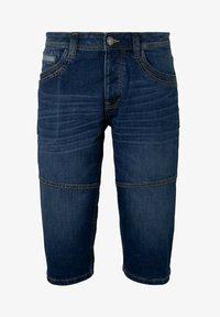 TOM TAILOR - MORRIS  - Denim shorts - mid stone wash denim - 6