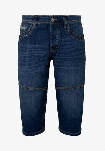 MORRIS  - Denim shorts - mid stone wash denim
