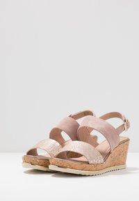 Jana - Platform sandals - rose/gold - 3
