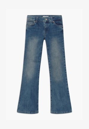 VERONIQUE - Bootcut jeans - blue denim