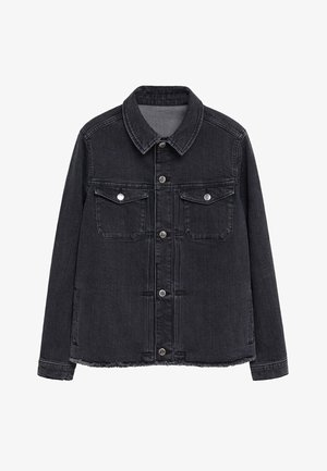 BOXY - Button-down blouse - denim grå