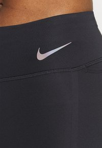 Nike Performance - FASTER 7/8 - Tights - black/gunsmoke