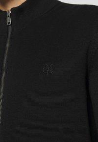 Marc O'Polo - JACKET WITH ZIP - Kofta - black - 5