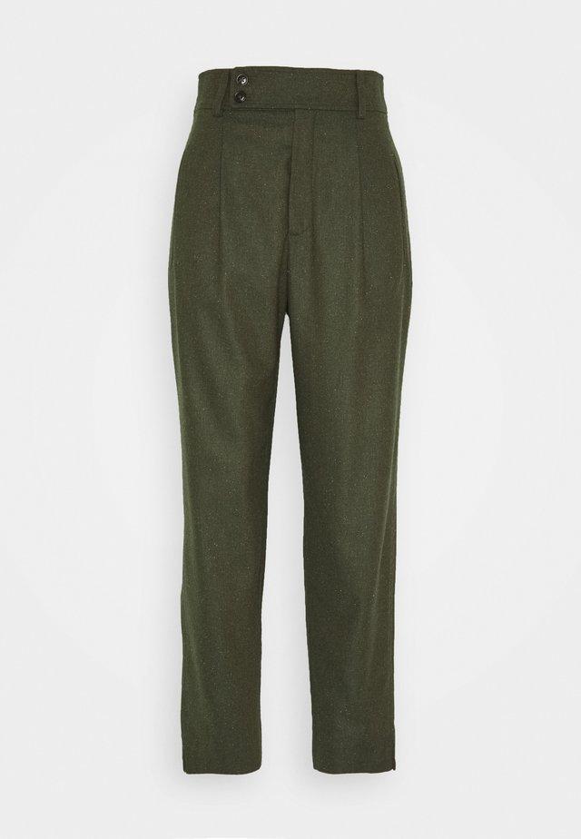 LIV CROPPED - Spodnie materiałowe - khaki