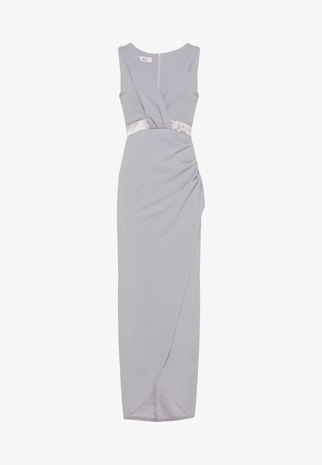 WRAP DRESS - Occasion wear - pearl grey