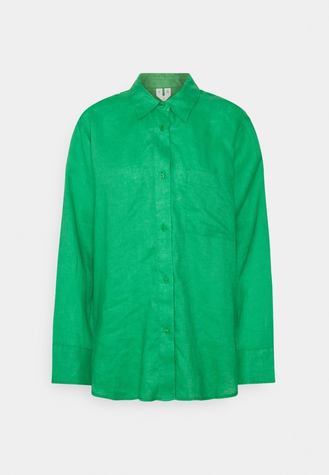 Button-down blouse - bright green