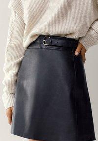 Massimo Dutti - A-line skirt - black - 4