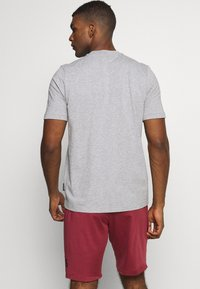 adidas Performance - ESSENTIALS SPORTS SHORT SLEEVE TEE - Print T-shirt - medium grey heather - 2