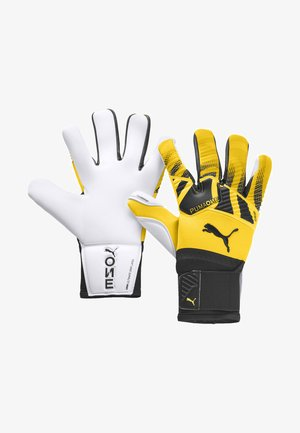 Goalkeeping gloves - ultra yellow-black-white