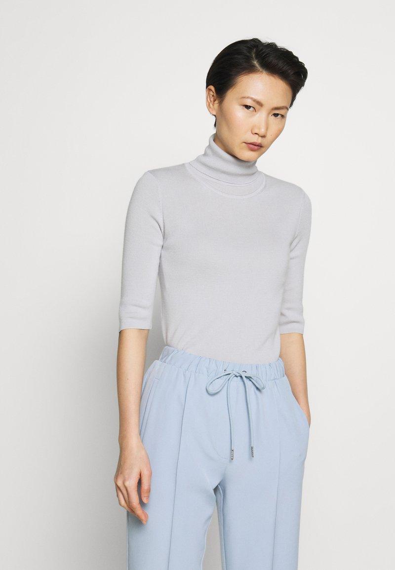 Filippa K - ELBOW SLEEVE - Jednoduché triko - sterling grey