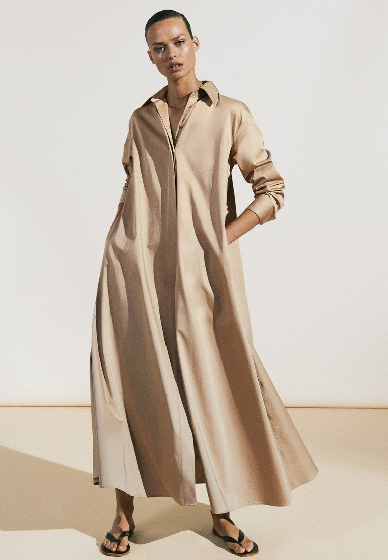 Massimo Dutti - Maxi dress - beige